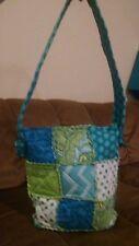 "Handmade Rag Quilt Patchwork purse Hipster Messenger Bag 11.5"" CUSTOM ORDER ONLY"