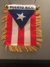 New listing Puerto Rico 2 Side Mini Banner Flag Rear Car Window Mirror Hanging