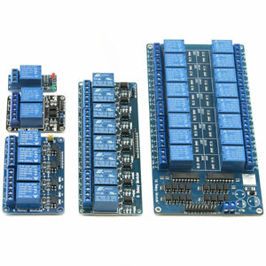 5V, 12V or 24V 1-2-4-8-16 Channel Relay Module Arduino PI ARM AVR DSP PIC