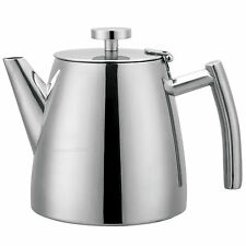 Small 350ml Stainless Steel Double Walled Teapot Serving Afternoon Tea Pot 10oz
