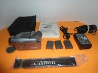 Canon Elura 80 Mini DV Camcorder with many accessories, Nice Camcorder Bundle!