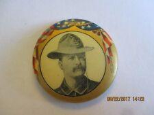 """1904 CELLO BUTTON PIN 1 1/4"""" TEDDY ROOSEVELT ROO3223"""
