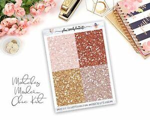 Modern Chic Glitter Header Planner Stickers/Bujo/Scrapbooking/Journaling