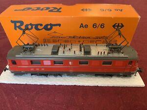 "ROCO 43536 Swiss Ae 6/6 #11423 ""Valais"" locomotive, DC / DCC ready, used, boxed"