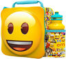 3D Emoji Lunch Bag with Bottle Kids School Lunchbox Food Drink Storage