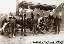 Steam Roller & Crew, Vancouver, BC, Canada - 1910 - Historic Photo Print