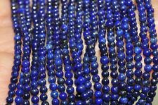 """16"""" Strand 2mm Natural Afghanistan Pyrite LAPIS LAZULI Tiny Seed Beads  H0982"""