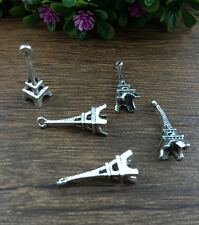 Vintage 10pcs Tibet silver Eiffel Tower Charm Pendant beaded Jewelry Findings AA
