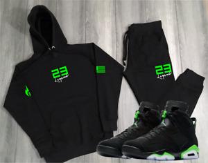"23 Legend Track Suit To Match Air Jordan 6 ""Electric"" Sneaker Hoodies Joggers"