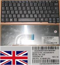 TASTATUR QWERTY UK ACER ASPIRE ONE AOA-150 NSK-AJE0U KB.INT00.592 SCHWARZ