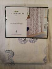 Threshold Blue Medallion Fabric Shower Curtain, Cotton Bath Decor