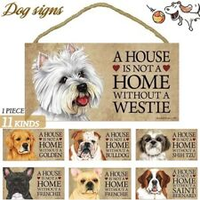 Funny Dog Wooden Sign Pet Lover Hanging Plaques Gift Home Decor - Fast Ship Us