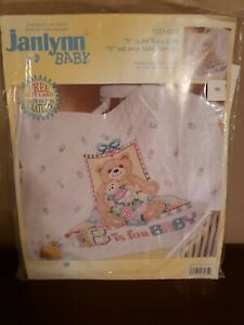 """JANLYNN STAMPED CROSS STITCH  """"B"""" IS FOR BABY 34"""" X 43"""""""