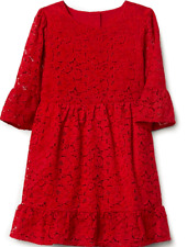 GAP KIDS GIRL FLORAL LACE BELL-SLEEVE DRESS NWT M(8) M450 NNN