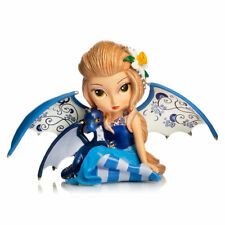 Peaceful Travels Blue Willow Fairy with Dragon Figurine Jasmine Becket-Griffith
