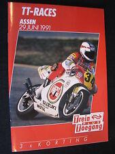 Flyer NS (Nederlandse Spoorwegen) TT Motorraces Assen 29 juni 1991  (TTC)