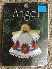 DMC Counted Cross Stitch Angel Ornament Kit Poinsettias #1452 Angel Wings NEW