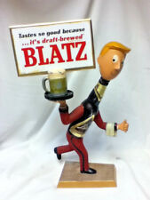 Blatz running waiter metal bottle guy beer sign statue man vintage billboard Ml3