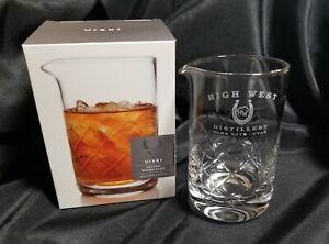 High West Distillery Viski 4321 Professional Lead Free Crystal Mixing Glass New