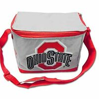OSU Lunch Bag Cooler - Ohio State Buckeyes NCAA College 6 Pack Tote Lunch Box