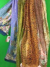 Echarpe femme  en soie 100% 150 x 40 cm authentique PAVLOV POSSAD Russie