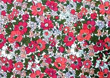 SK48 LIBERTY OF LONDON Floral Retro AMAZING BEAUTIFUL Cotton Quilt Fabric