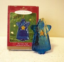 Hallmark Keepsake Ornament   BLUE GLASS ANGEL