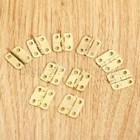 Gold Tone Hinges Hardware Furniture Drawer Wooden Box Cabinet Hinge with Screws