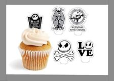 nightmare before christmas x24 edible stand up cup cake toppers wafer paper