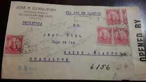 O) 1906 BRAZIL, EDUARDO WANDENKOLK SC 177 100r -CENSORSHIP -OPENED, JOSE R. CERQ