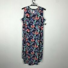 Catherines Dress Plus Size 2X Sleeveless Floral Shift Multicolor Womens