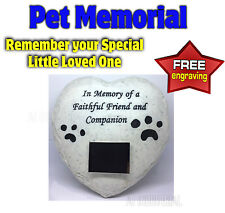 PET MEMORIAL - HEADSTONE - TRIBUTE TO YOUR SPECIAL PET CAT / DOG FREE ENGRAVING