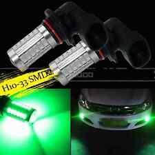 2X H10 Green 33SMD 9145 Projector LED Lens Bulbs For Car Driving Fog Lights