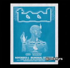 "Tool + Tricky 2001 Original 4.25"" x 5.5"" Handbill. Portland Oregon. Lateralus."