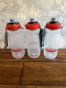 Three 3 NEW Camelbak 21 oz. Podium Cycling Water Bottles Fiery Red FREE SHIPPING