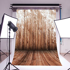 Photography Backdrop photo props Vinyl Snow Winter Wood wall Floor 5x7ft #nx