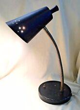 Vintage Mid Century Modern Black Goose Neck Desk Lamp