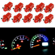 10X T5 B8.5D 5050 1 SMD LED Lamp Car Panel Instrument Dashboard Lights Bulbs Red