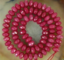 """AAA 5x8mm Faceted Red Brazil Ruby Abacus Gemstone Loose Beads 15"""""""