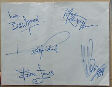 More details for rolling stones signed autograph page - signed by bill wyman and charlie watts