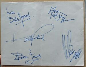 Rolling Stones Signed Autograph Page - signed by Bill Wyman and Charlie Watts