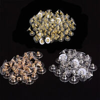 30pcs Silicon Stud Earring Back Stoppers Ear Nuts Silver/Gold Jewelry Findings