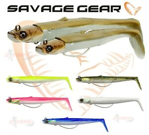 Savage Gear NEW Sandeel V2 WL Weedless Fishing Lure All Sizes / Colours Bass lrf