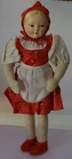 Handmade vintage doll in a danish girl costume . 1950s   Free shipping