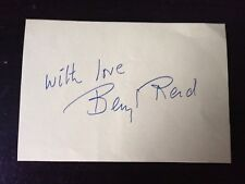 BERYL REID - LATE GREAT BRITISH ACTRESS - SIGNED VINTAGE ALBUM PAGE