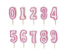 NUMBER CANDLES - Birthday Party Cake All Ages Boy Girl Multi Coloured Numeral 1C