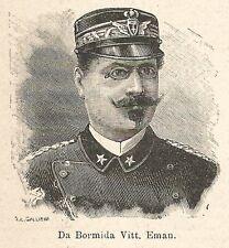 A6746 Da Bormida Vittorio Emanuele - Stampa Antica del 1925 - Xilografia