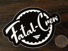 FATAL CREW Clothing Sticker Black Car Window Decal West Coast Tattoo #3 Skin Ink