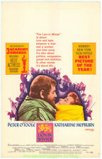 THE LION IN WINTER MOVIE POSTER Window Card KATHERINE HEPBURN ANTHONY HOPKINS