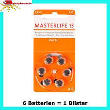 Masterlife Hörgeräte Batterie Typ 13 Pr48 orange A13 Mercury